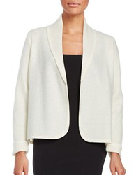 Nipon Boutique Open Front Wool Cardigan Ivory
