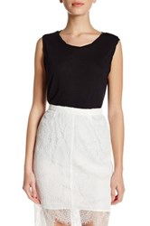 Cupcakes And Cashmere Crew Neck Sleeveless Tank Black