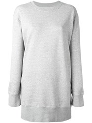 Maison Martin Margiela Mm6 Strap Detail Sweatshirt Grey