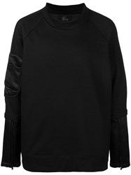 Lost And Found Rooms Bomber Sweatshirt Black