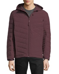 Marc New York Delavan 4 Way Stretch Packable Hooded Down Jacket Red