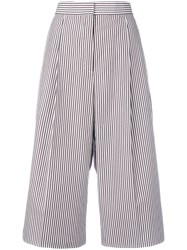 Ports 1961 Striped Cropped Trousers White
