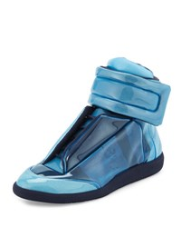 Maison Martin Margiela Future Transparent High Top Sneaker Blue