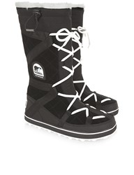 Sorel Black Glacy Explorer Long Boots