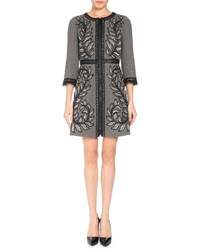 Andrew Gn 3 4 Sleeve Embroidered Wool Blend Coat Gray