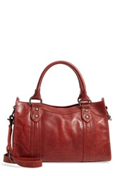 Frye 'Melissa' Washed Leather Satchel Pink Red Clay