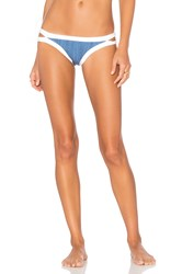 Seafolly Block Party Brazilian Bikini Bottom Blue