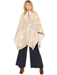 Peter Pilotto Printed Stretch Wool And Angora Poncho