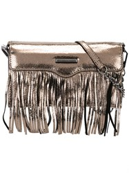 Rebecca Minkoff Fringed Metallic Grey Clutch