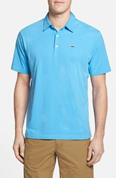 Men's Patagonia 'Trout Fitz Roy' Organic Cotton Polo Skipper Blue