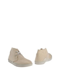 Le Crown Ankle Boots Beige