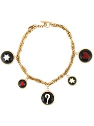 Moschino Vintage 'Great Fun' Necklace Metallic