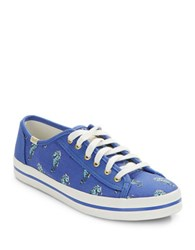 Kate Spade Sea Horse Lace Up Sneakers Blue