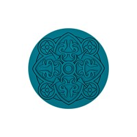 Images D'orient Round Urban 01 Coaster Teal