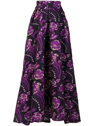 Temperley London Elsa Skirt Silk Polyamide Polyester Metal Black