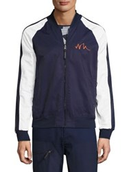 Madison Supply Reversible Baseball Collar Jacket Print