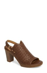 The Flexx 'S Weave Me Be Slingback Sandal Chocolate Leather