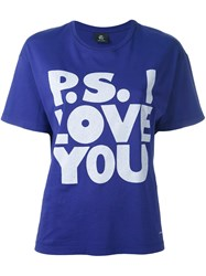 Paul Smith Ps By Ps I Love You T Shirt Pink And Purple