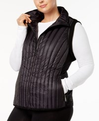 Calvin Klein Performance Plus Size Quilted Vest Black
