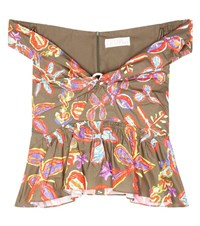 Peter Pilotto Printed Cotton Top Multicoloured
