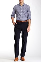 Louis Raphael Solid Herringbone Modern Fit Pant Blue
