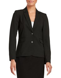 Marc New York Pinstriped Two Button Blazer Black White
