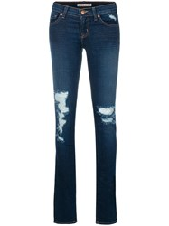 J Brand Distressed Skinny Jeans Blue