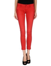 People Denim Pants Red