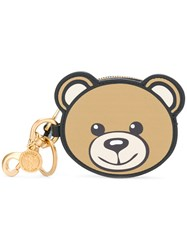 Moschino Toy Bear Keyring Nude And Neutrals
