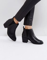 Office Agenda Ankle Boots Black