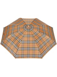 Burberry Vintage Check Folding Umbrella Yellow