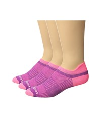 Wrightsock Cool Mesh Ii 3 Pack Plum Pink Crew Cut Socks Shoes Purple