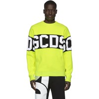 Gcds Yellow And Black Logo Sweater