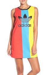 Adidas Women's Originals Trefoil Colorblock Jersey Tank Dress