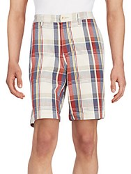 Tommy Bahama Hana Plaid Stretch Cotton Shorts Multi