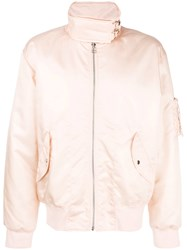 Helmut Lang Bomber Jacket Pink And Purple