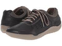 Hush Puppies Hinton Method Black Leather Men's Lace Up Casual Shoes