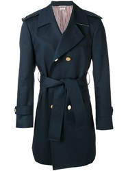 Thom Browne Trench Coat Blue