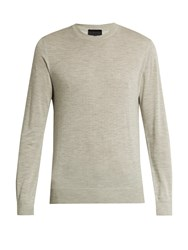 Lanvin Crew Neck Cashmere Sweater Light Grey