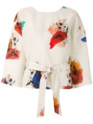 Andrea Marques Printed Wrap Blouse 60