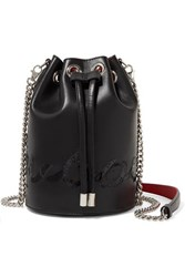 Christian Louboutin Marie Jane Embellished Leather Bucket Bag Black