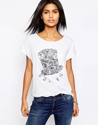 Pepe Jeans Mad As A Hatter T Shirt 802Optic White