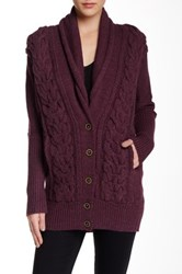 L.A.M.B. Cable Knit Cardigan Red