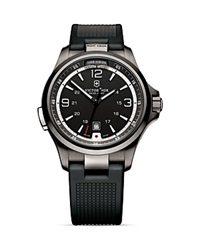 Victorinox Swiss Army Nightvision Black Ice Watch With Rubber Strap 42Mm