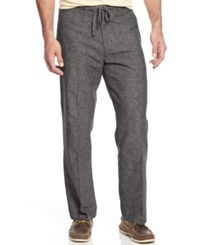 Tasso Elba Big And Tall Linen Drawstring Pants Grey