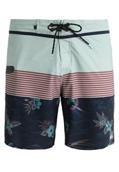 Quiksilver Divisremive Swimming Shorts Division Remix Navy Blazer Green