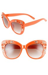 Leith Women's 58Mm Floral And Leaf Embellished Cat Eye Sunglasses
