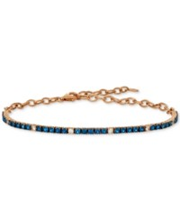 Le Vian Blueberry 1 1 3 Ct. T.W. And Vanilla 1 5 Ct. T.W. Sapphire Bracelet In 14K Rose Gold Also Available In Emerald