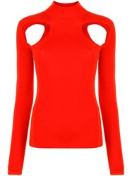 Dion Lee Cut Out Jumper Red