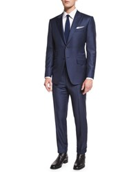 Tom Ford O'connor Base Sharkskin Two Piece Suit Bright Navy